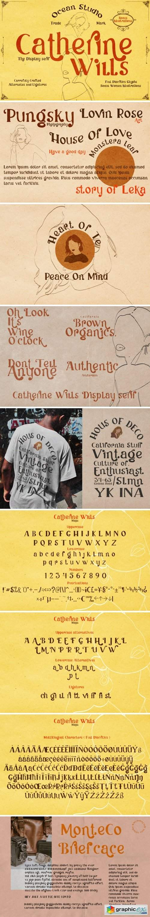Catherine Wills Font