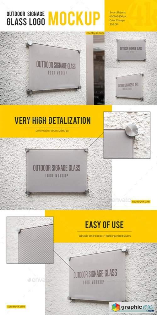 Glass Signage and Window Sign Logo Mockup Bundle
