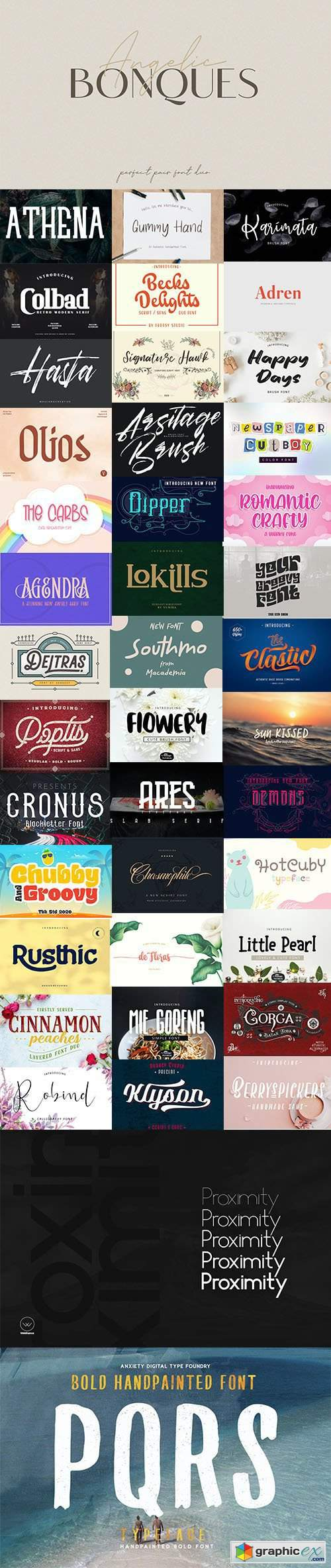 Super Fonts Pack Vol.2 [Aug/2020] - 42 Fonts