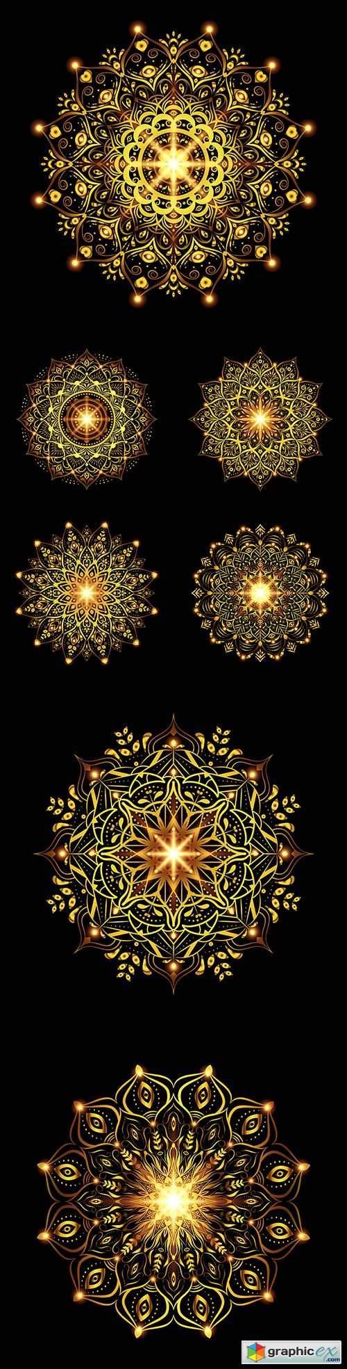 Mandala decorative gold ornament design