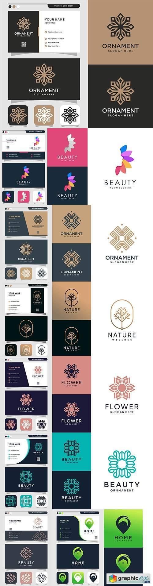 Minimalist elegant logo and business card design 6