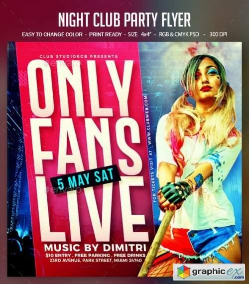 Night Club Party Flyer 26558218