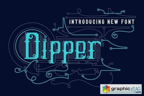 DIPPER - Blackletter font