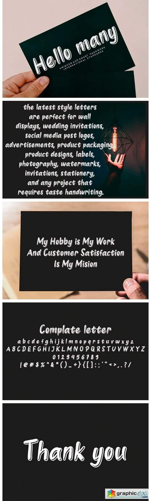 Hello Many Font