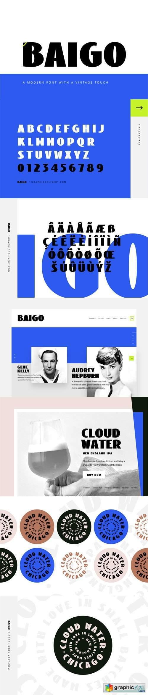 Baigo - A Modern Font with a Vintage Touch