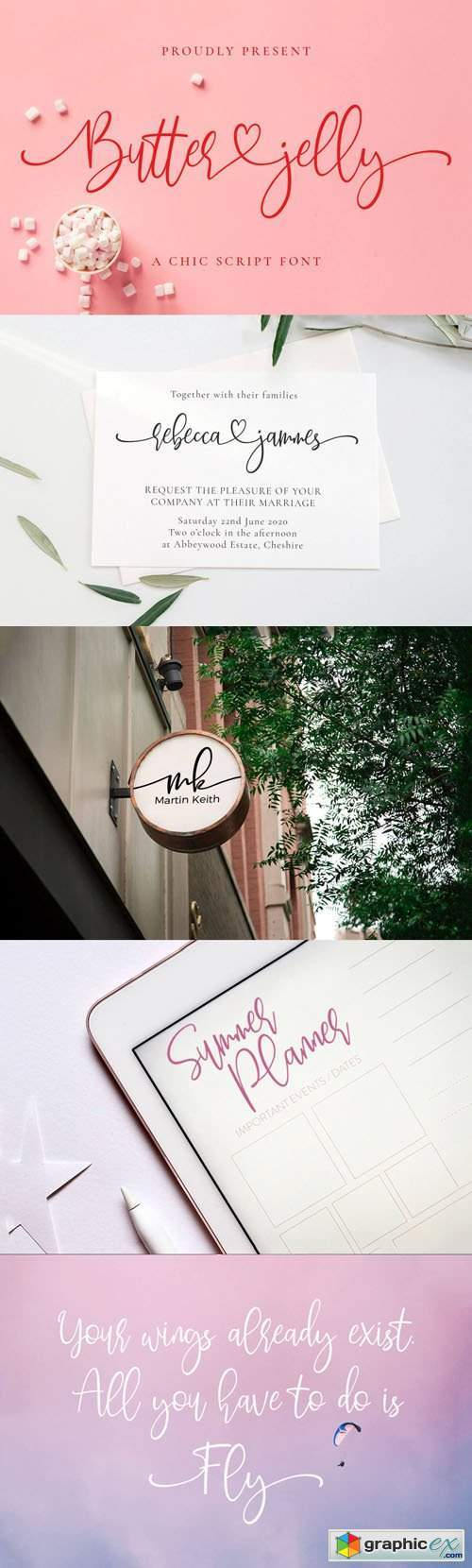 Butter Jelly - A Chic Script Font