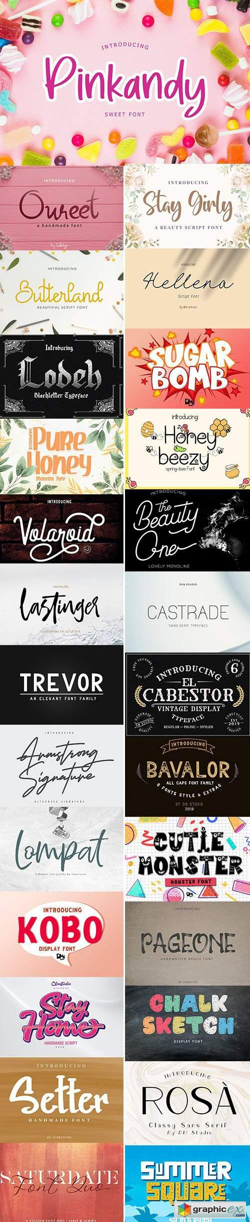 Download Super Fonts Pack Vol.3 Aug/2020 - 27 Fonts » Free ...