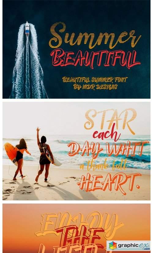 Summer Beautiful Font
