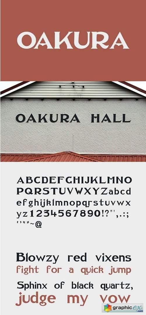 Oakura Serif Font