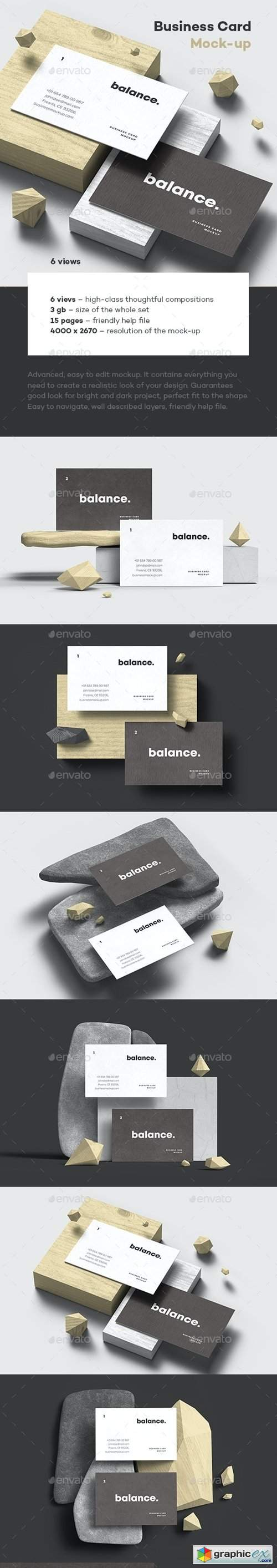 Business Card Mock-up 85x55