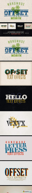 Letterpress / Vintage Text Effects