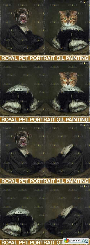 Royal Pet Portrait Templates Vol.9