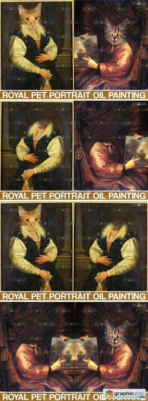 Royal Pet Portrait Templates Vol.8