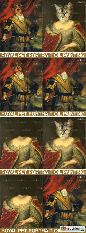 Royal Pet Portrait Templates Vol.10