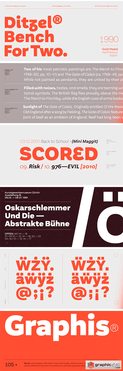 Aestetico Font Family