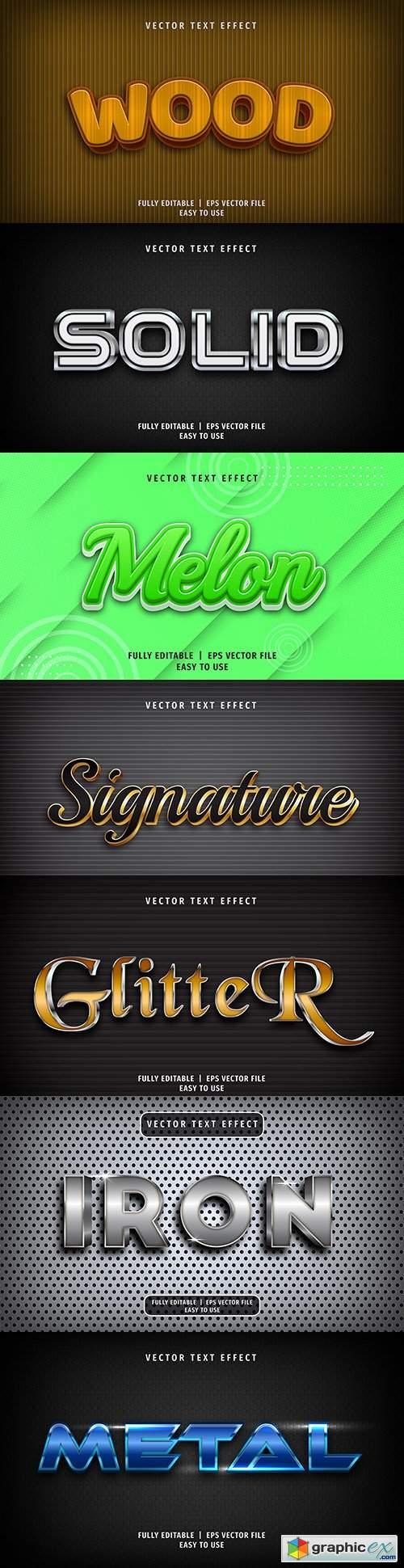 Editable font effect text collection illustration design 183