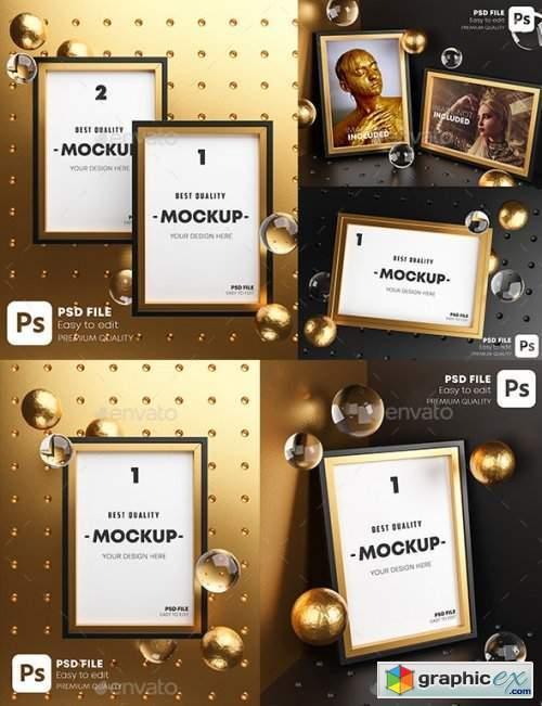 Gold Frame Mockup Pack