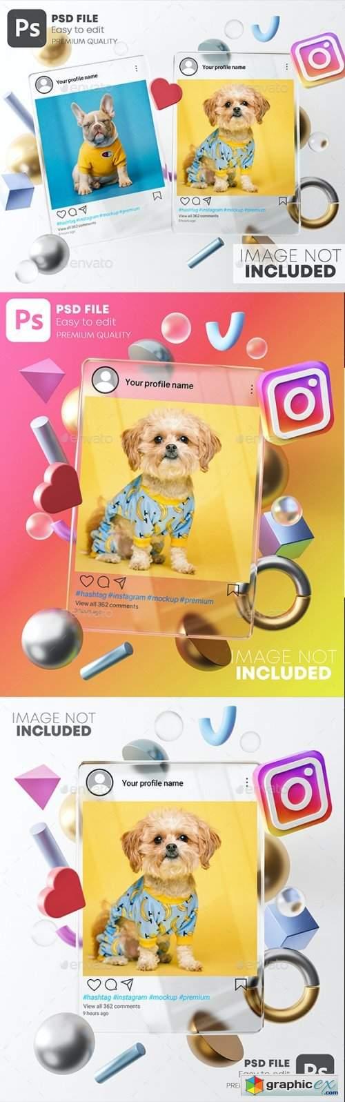 Glass Instagram Post Mockup