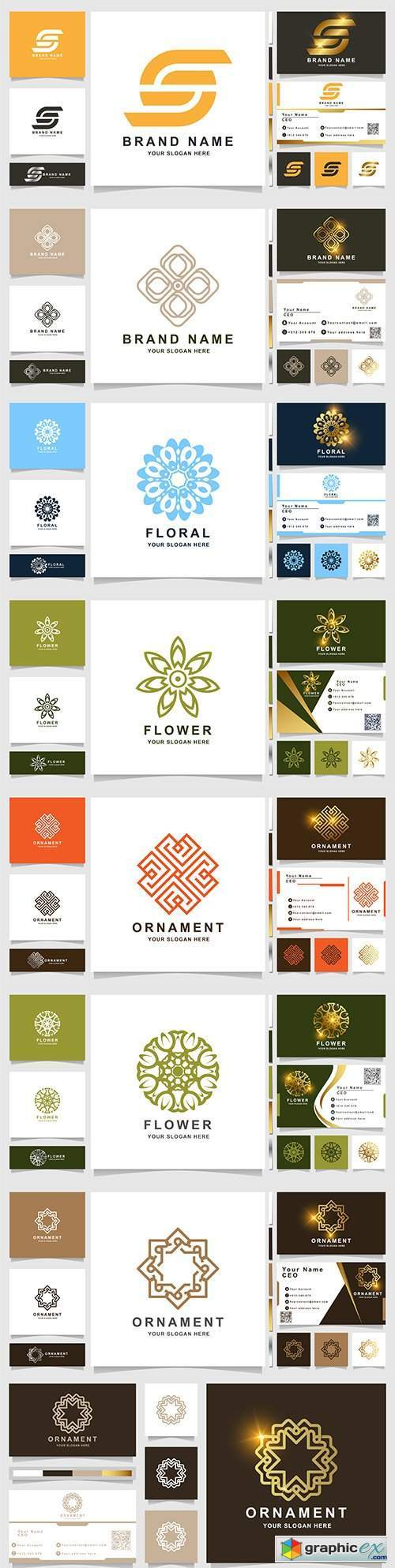 Minimalist elegant logo and business card design 8