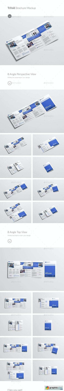 A4/A5 Trifold Brochure Mockup