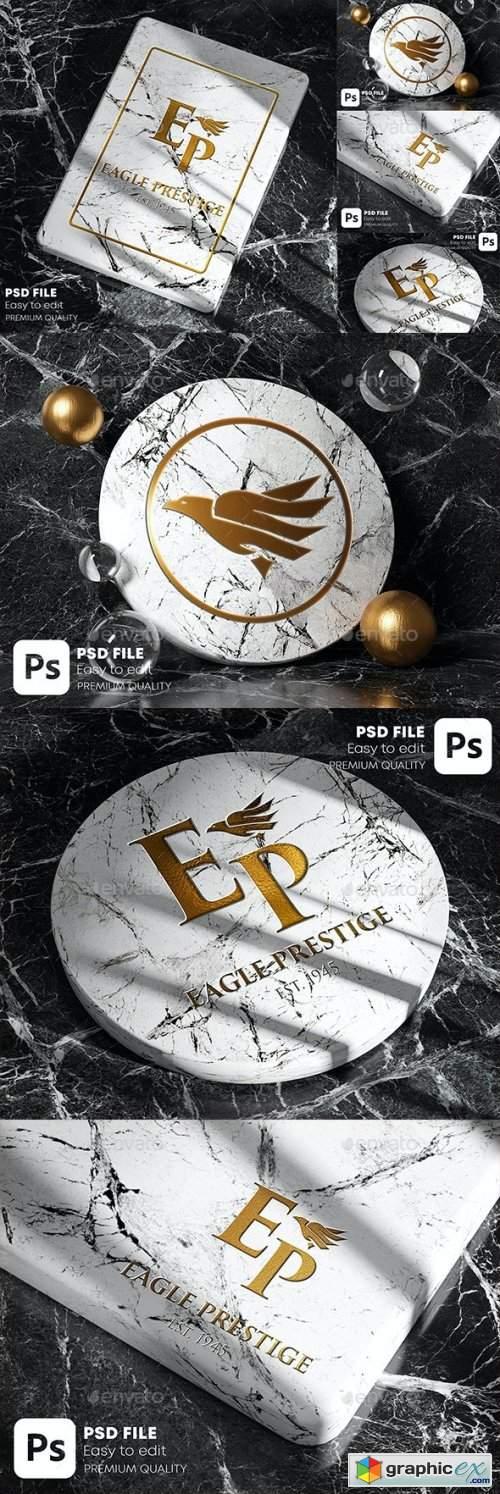 Gold Marble Logo Mockup Pack