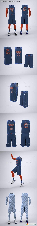 Basketball Jersey and Shorts Uniform Mock-Up