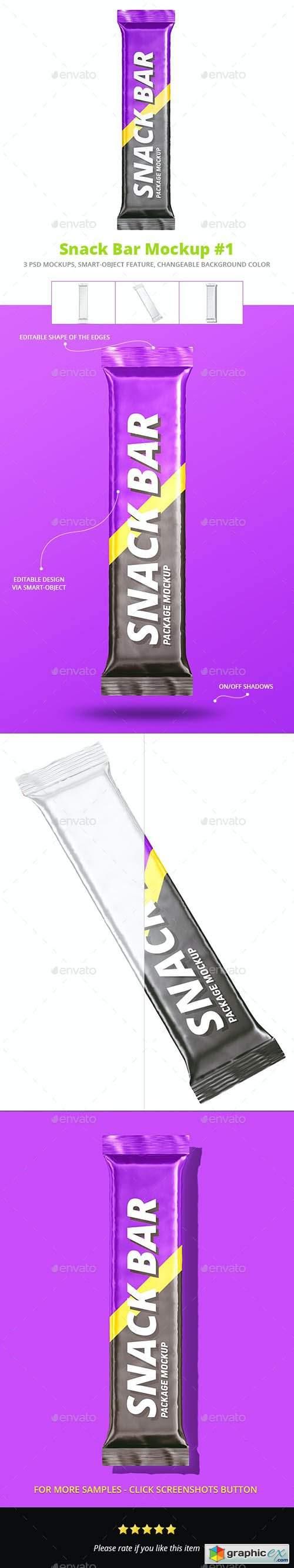 Snack Bar Package Mockup Set 1