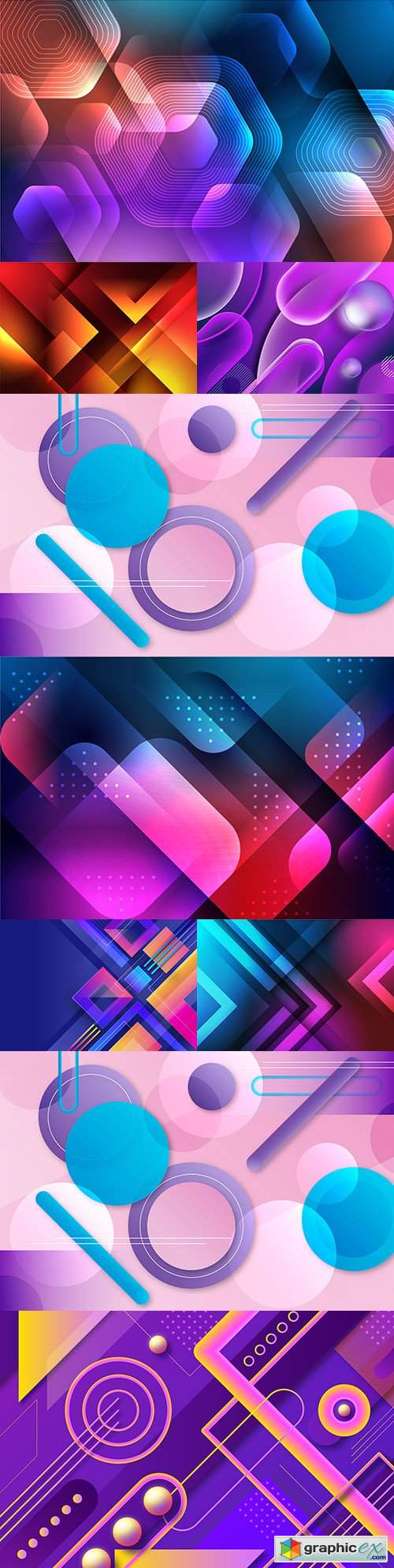 Gradient abstract design geometric background shape 2