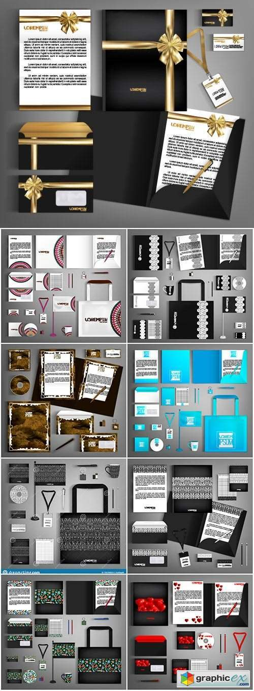 Corporate identity template with colorful design # 2
