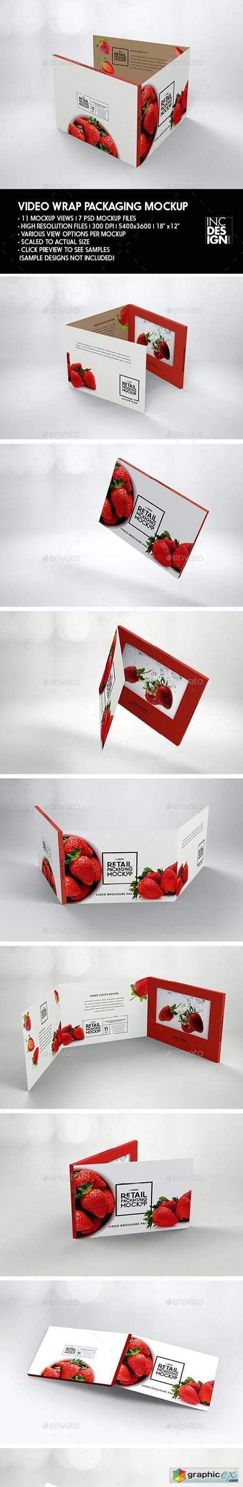 Retail Video Wrap Brochure Packaging Mockup