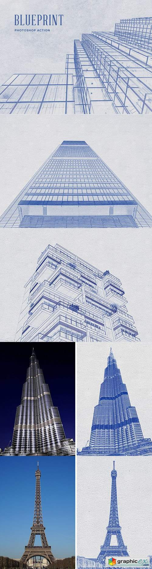 Blueprint Action for Photoshop
