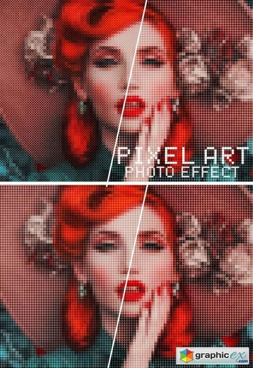 Pixel Art Photo Effect