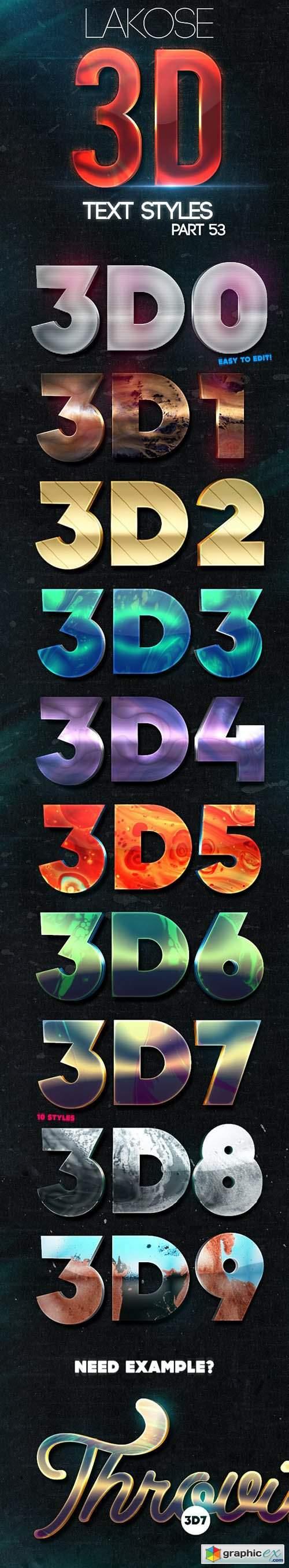 Lakose 3D Text Styles Part 53