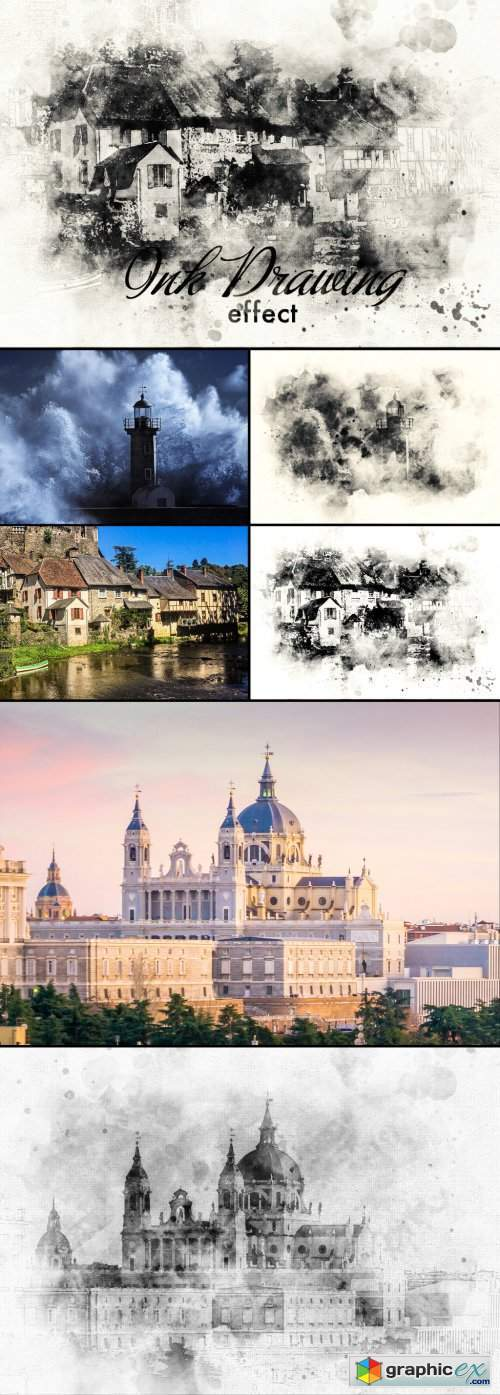 Ink Painting Photo Effect