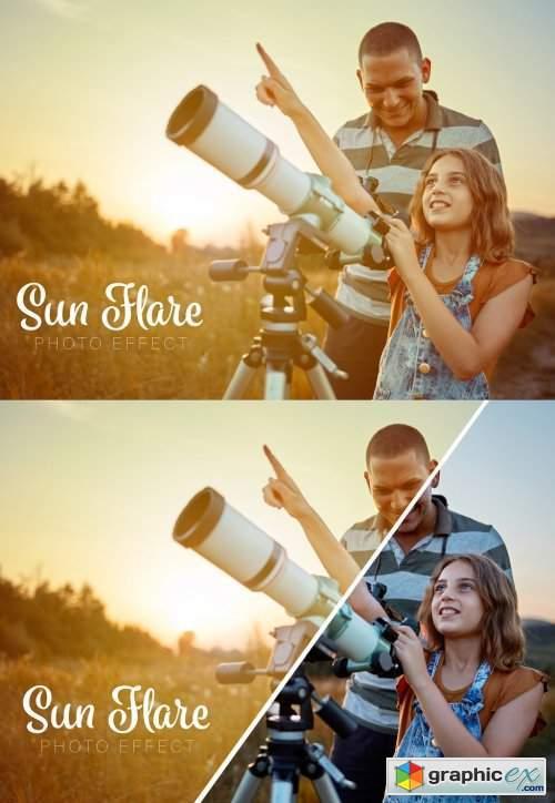 Sun Flare Photo Effect Mockup