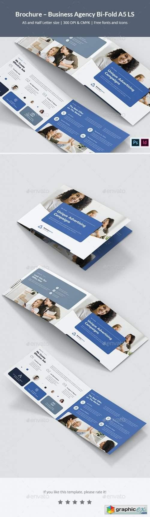 Brochure – Business Agency Bi-Fold A5 Landscape