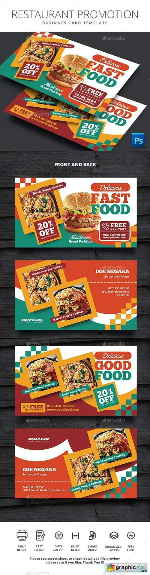 Restaurant Promotion Business Card