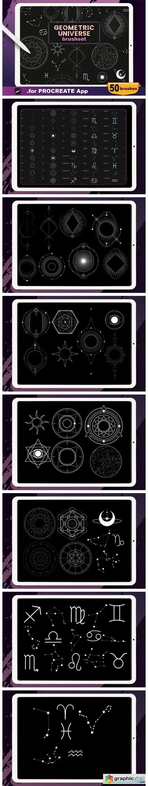 Procreate - Geometric Universe Stamps