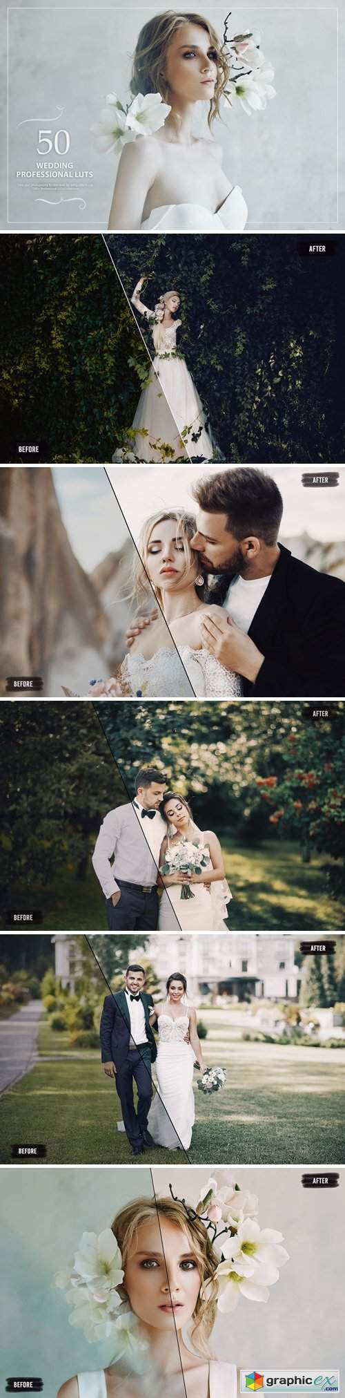 50 Wedding LUTs (Look Up Tables)