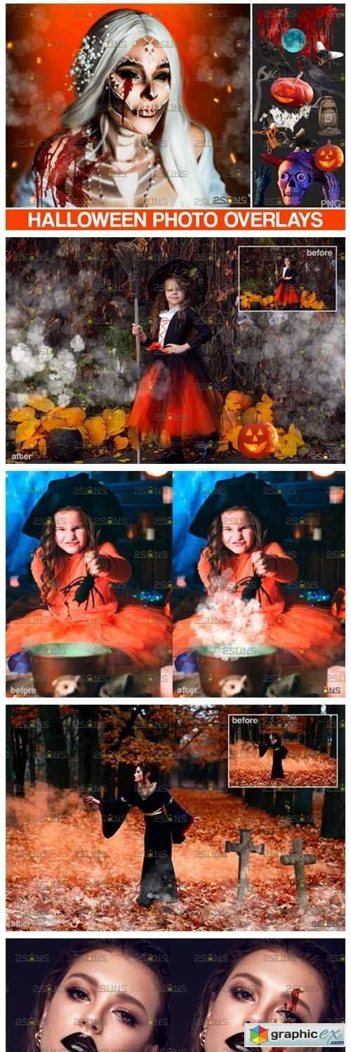 Halloween Clipart & Halloween Overlays