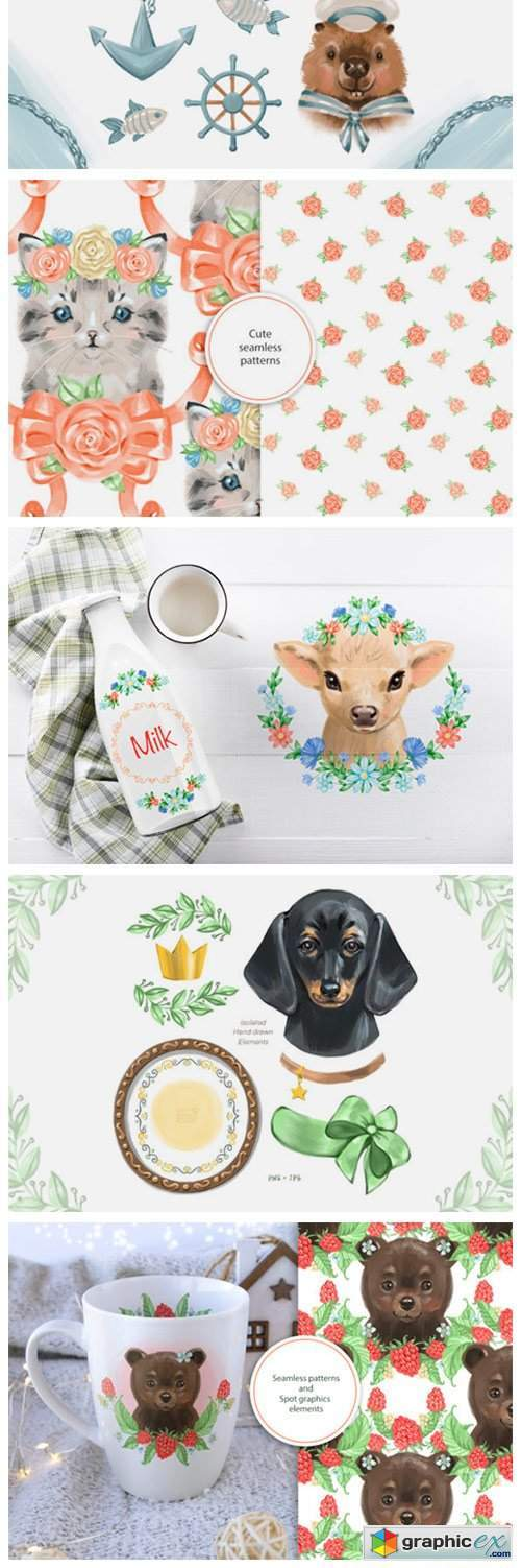 Cute Animals Bundle 5114886