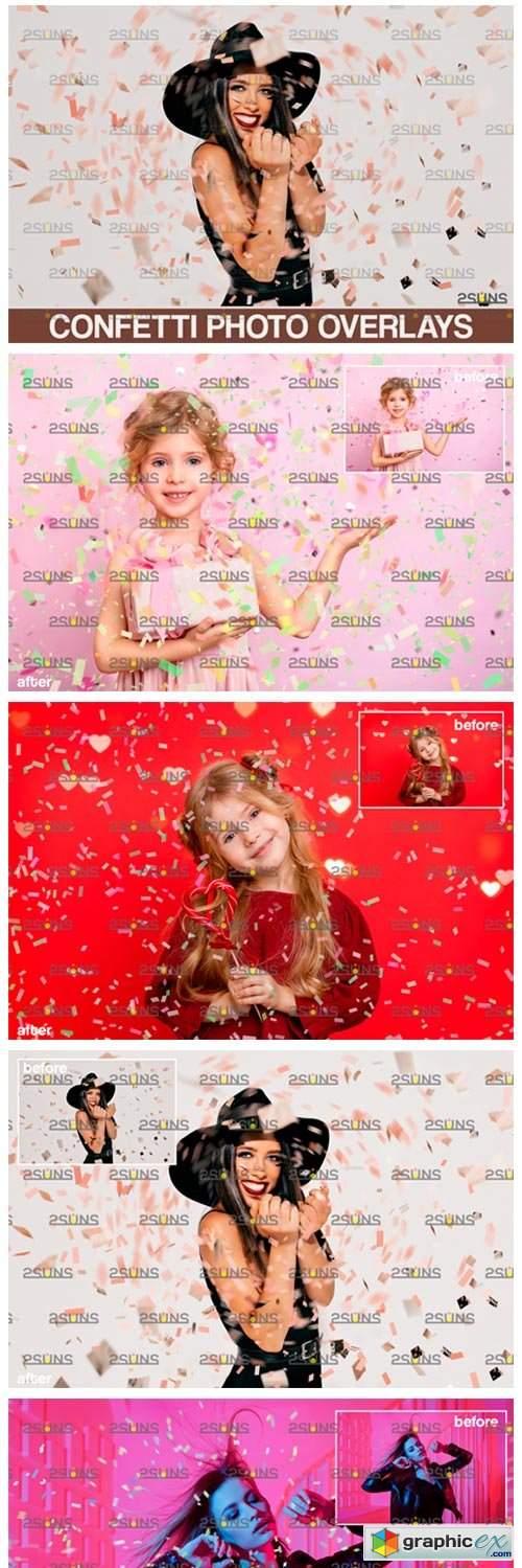 Confetti Overlay Blowing Photo Overlay