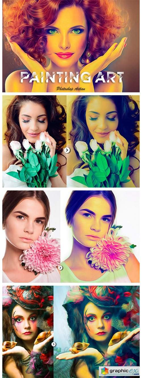 Painting Art Photoshop Action 5552946