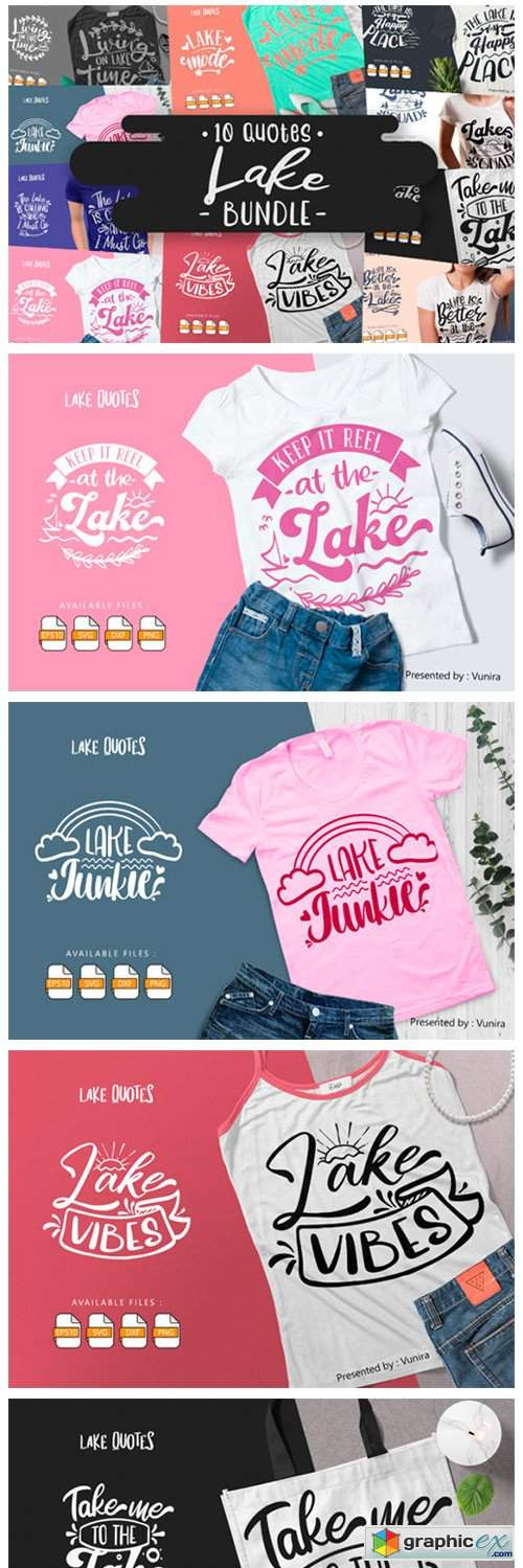 10 Lake Bundle   Lettering Quotes