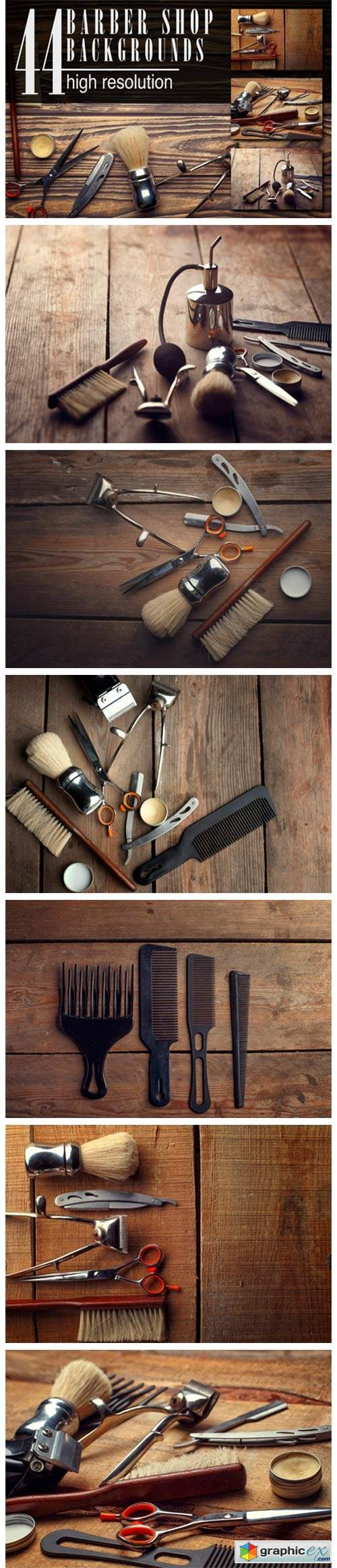 Barber Shop Wooden Backgrounds