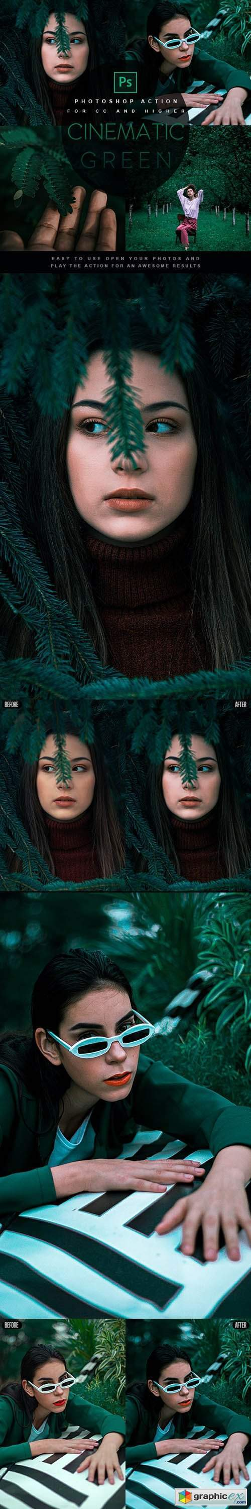 Cinematic Green - Photoshop Action