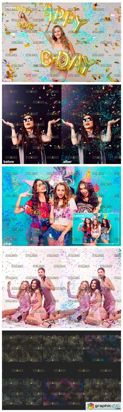 Confetti Overlay & Photoshop Overlay