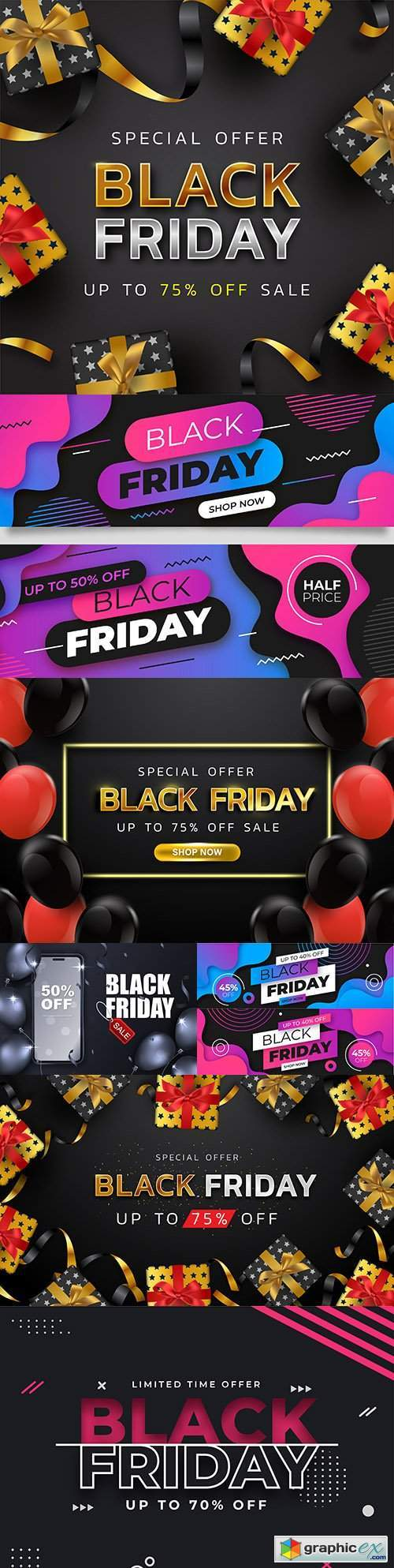 Black Friday and sale special design illustration 37