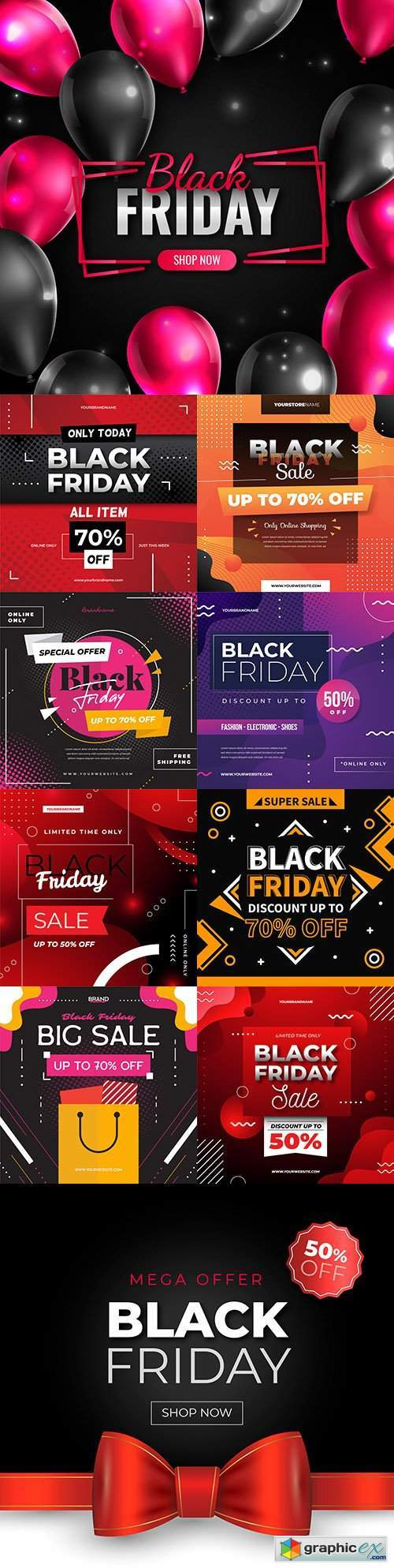 Black Friday and sale special design illustration 36