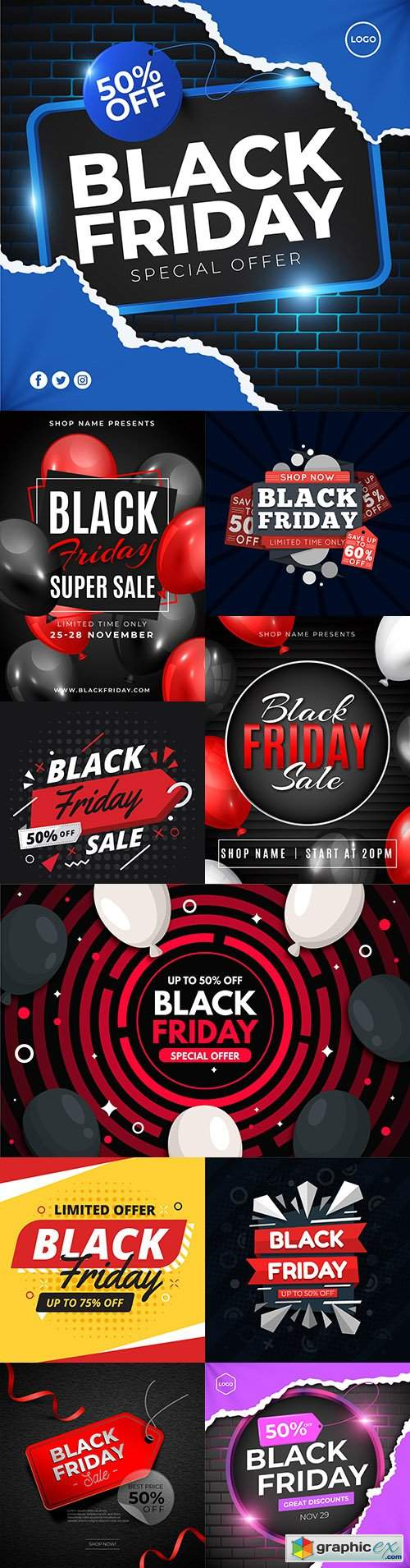 Black Friday and sale special design illustration 35